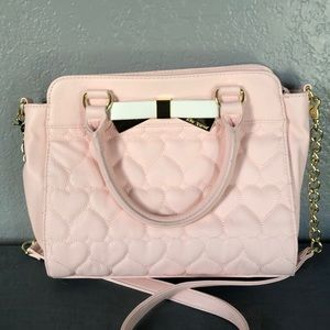 Betsey Johnson Pink Heart Bag